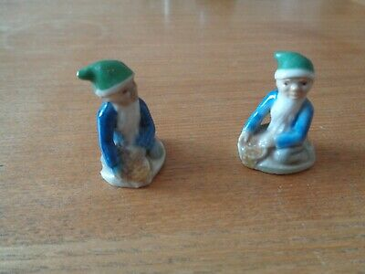Two Rare Wade Whimsie 1950s Leprechaun Crock Of Gold Colours Different See Photo • 11.99£
