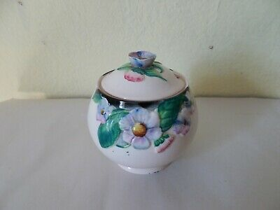 OLD CARLTON WARE JAM POT No 2056 DAISY FLOWERS • 8.99£