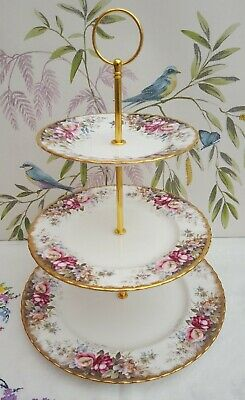 Stunning Royal Albert  Autumn Rose   XL 3-tier Cake Stand ***IMMACULATE*** • 19.99£