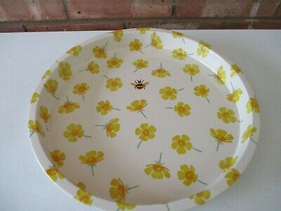 Emma Bridgewater Round Metal Deep Well Tray Buttercup & Bee - New Just Released  • 11.99£