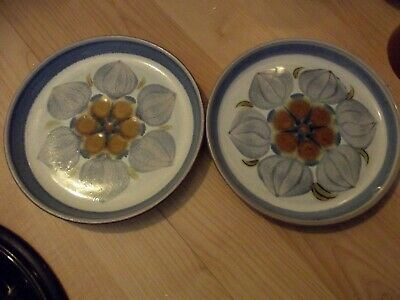 DEnby Chatsworth Tea Plates X 2 • 8£