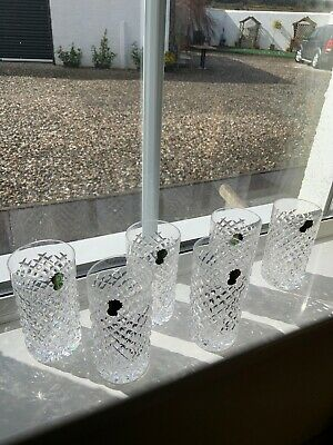 Waterford Crystal Glasses High Ball Tumbers New 14cm High  Labels Still On Glass • 50£