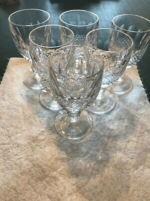 6 Waterford Crystal Colleen Short Stem Wine Glasses 11.5cm Height • 36£