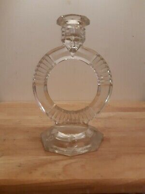 Glass Candle Stick Holder • 6£