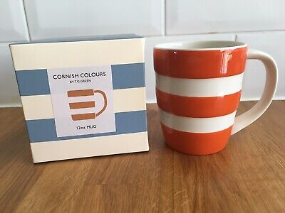 T G Green Cornishware Orange Stripe 12oz Mug New Boxed Limited Edition • 28.95£