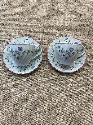 Johnson Brothers Summer Chintz 2 Tea Cups And Saucers • 2.40£