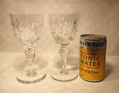 Thomas Webb  St Andrews  Crystal Pair Of Claret Glasses.1st Quality, Faultless, • 32£