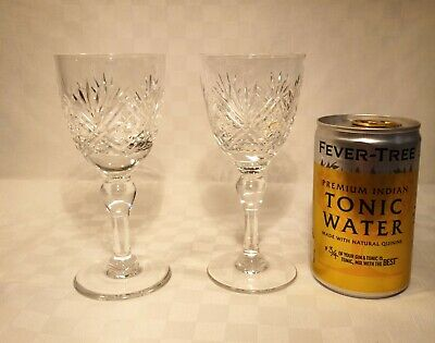Thomas Webb  St Andrews  Crystal Pair Of Sherry Glasses.1st Quality, Faultless, • 23£