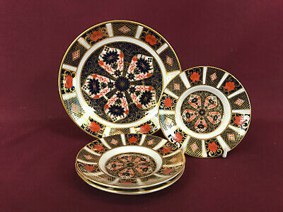 ROYAL CROWN DERBY OLD IMARI 4 X SAUCERS (3 X COFFEE, 1 X BREAKFAST) - NEW/UNUSED • 37£