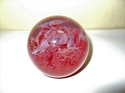 Caithness Glass Inferno Paperweight Scotland Pinky Red Colours • 9.99£