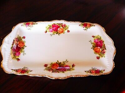 Vintage Royal Albert 'Old Country Roses' Sandwich Plate • 1£