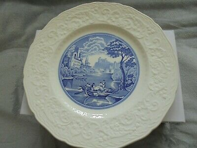 Blue And White Old Dinner Plate Made In England • 6£