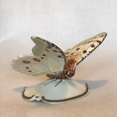 Rosenthal White And Green Butterfly Figurine Collectable Vintage VGC • 50£