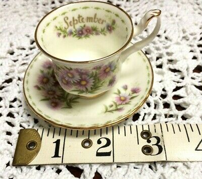 Royal Albert Flower Of The Month SEPTEMBER Miniature Cup & Saucer 1st Quality  • 4.99£
