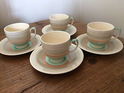 Susie Cooper Wedding Band Coffee Cups & Saucers • 24.99£