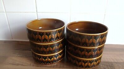 Set Of 6 Hornsea Heirloom Brown 5  Cereal/soup Bowls • 5.99£