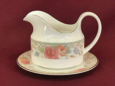 ROYAL DOULTON CLAUDIA GRAVY BOAT & STAND - BRAND NEW/UNUSED (made In England) • 4.99£