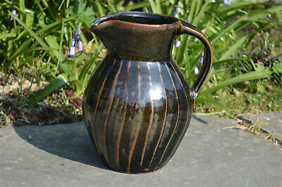 Large Trevor Corser Black And Brown Glazed Jug Leach Pottery St Ives Cornwall • 4.20£