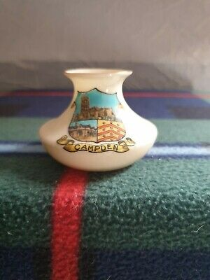 Swan China Vase Crested CAMPDEN Crested Ware • 4£