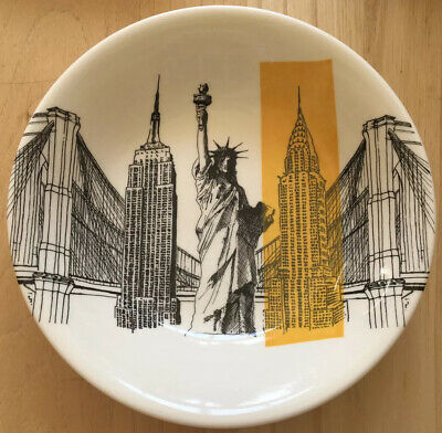 Poole Pottery Cities In Sketch New York Andrew Tanner Bowl C2010 • 9£