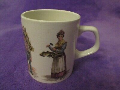 Holkham England Collectable Ceramic Cup Victorian Street Vendors • 5£