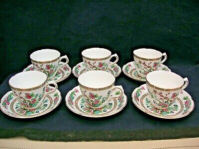 12 Piece Royal Grafton Indian Tree Cups & Saucers With Gilt Trim • 16.99£