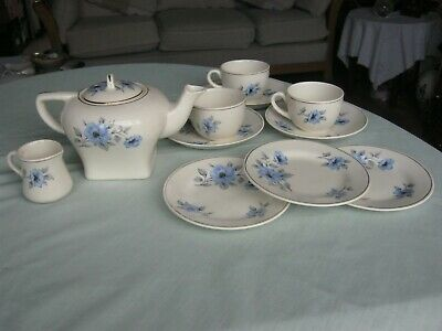 Vintage 1920's Royal Cauldon Ware CORONA Miniature Part Tea Set • 15£