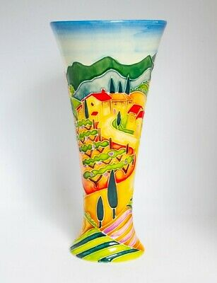 Old Tupton Ware Tube Lined 8  Vase  TUSCANY  Boxed - Item 1620 • 36.50£
