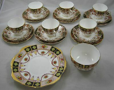 Sutherland China Cups /saucers/ Plates Trios+sugar Bowl+sandwich Plate  2501 X 6 • 30£