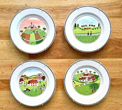 Four Beautiful Villeroy And Boch Bread Plates • 45£