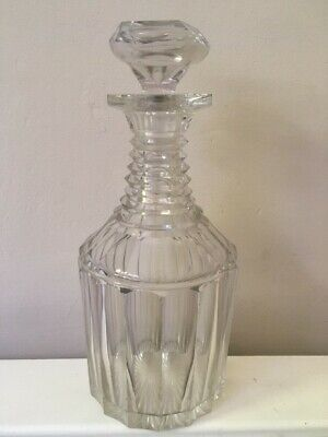 Antique Crystal Glass Decanter Believed Early 19thc Anglo Irish (?) • 20£