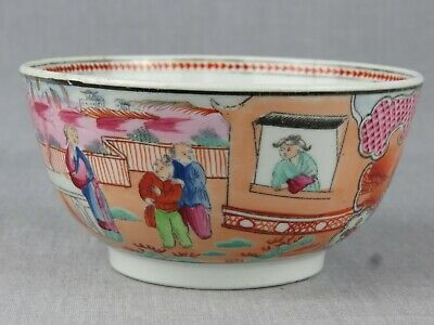 Antique New Hall Boy In The Window Pattern Porcelain Bowl • 12£