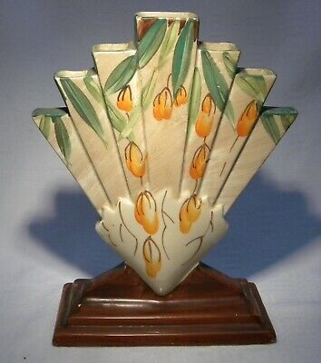 Myott Sons & Co Art Deco Rare Orange Blossom 9111 Fan Vase  • 174.99£
