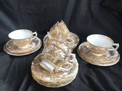 """Royal Crown Derby """"Aves Gold"""" .Tea Cup ,saucer  & Side  Plate. • 120£"""