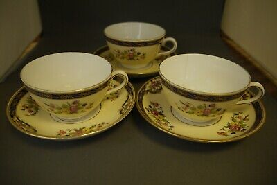 Plant Tuscan China (Exclusive To Harrods) 3 X Cups & Saucer (TR) • 12.99£