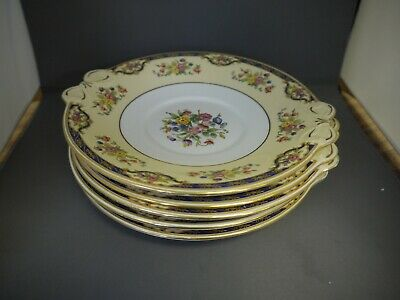 Plant Tuscan China (Exclusive To Harrods) 5 X Cake Plates (TR) • 40£