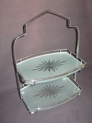 Vintage Art Deco ~ Two Tier Cake Stand • 24.95£