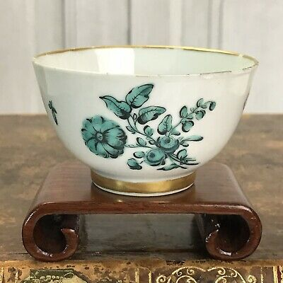C18th London Decorated Chinese Export Porcelain Tea Bowl, C1760-65 • 9.99£