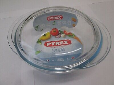 2.1L Round Pyrex Dish With Lid - Oven And Microwave Safe -New - FREE DELIVERY • 12.99£
