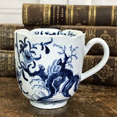 Early Worcester Porcelain Coffee Cup, Circa 1760. • 110£