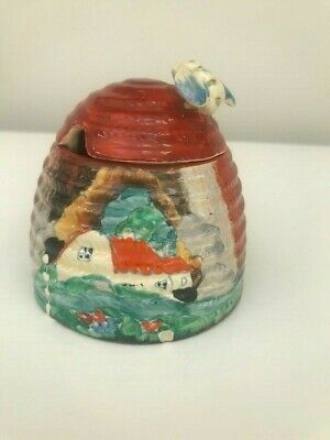 Antique Clarice Cliff Bizarre Forest Glen Honey Pot ~ Art Deco Ceramic ~ RARE • 145£