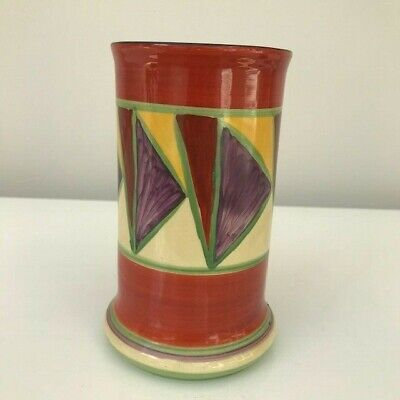 Art Deco Clarice Cliff Original Early Bizarre Geometric Vase  • 45£