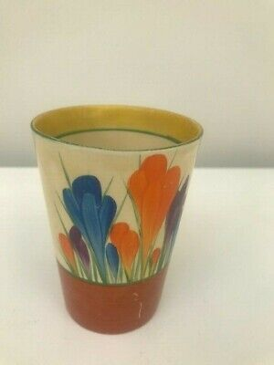 A Clarice Cliff Pot In AUTUMN CROCUS Pattern • 45£