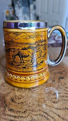 Vintage Lord Nelson Pottery Tankard 'dartmoor Ponies Princetown' • 9£