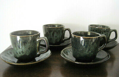 4 Fosters Pottery Cups And Saucers Retro Tableware • 7.99£