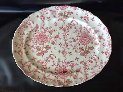 "JOHNSON BROS Large Rose Chintz Meat Food Serving Plate Platter 13.5x11"" • 2.19£"