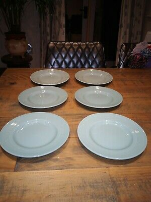 6 X Vintage Woods Beryl Ware Green Oval Side Plates. • 5£