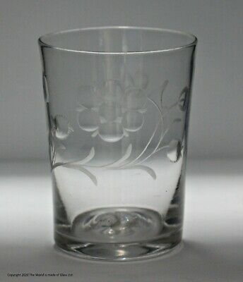 Large Georgian, Hand-blown, Engraved, Glass Tumbler, Jacobite Significance? • 145£