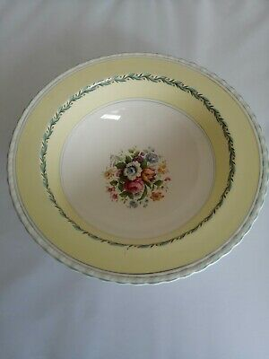 Myott Son & Co. Cream/Yellow Floral Bowl - Staffordshire England • 12£