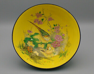 Vintage Shelley Floral And Bird Enamel Bowl 1925 To 1945 • 20£